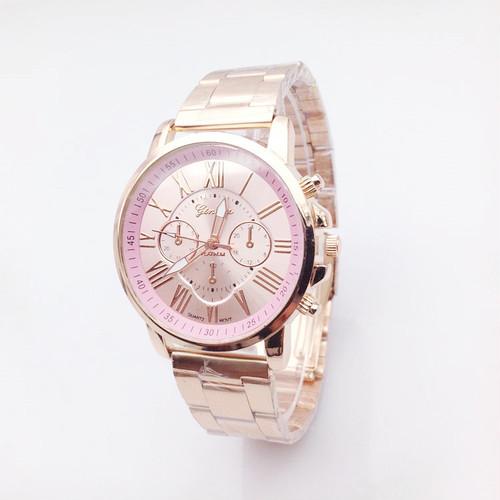 【ベビーピンク】◎高級感溢れる ピンクゴールド×人気カラー 時計 ウォッチ N373