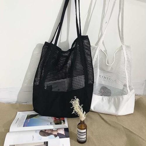 【送料無料】夏コーデにおすすめ♡ トレンドのメッシュ トート ショルダー バッグ カバン