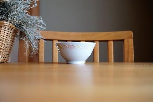 砥部焼/水玉遊茶碗(中)/大西陶芸