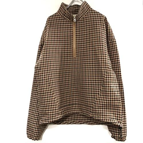 JieDa gingham half zip  long shirt