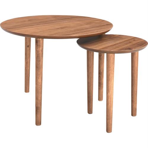 ラウンドネストテーブル Alva アルヴァ ローテーブル 木製 西海岸 インテリア 雑貨 西海岸風 家具