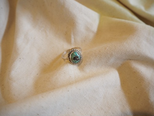<vintage silver925>turquoise ring(C)