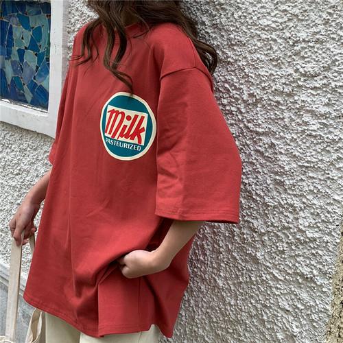 【送料無料】 CUTEなロゴ入り♡ オーバーサイズ Tシャツ 半袖 ビックシルエット メンズライク カジュアル