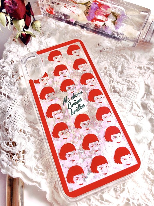 【for iPhone】Creme Brulee グリッターiPhoneケース