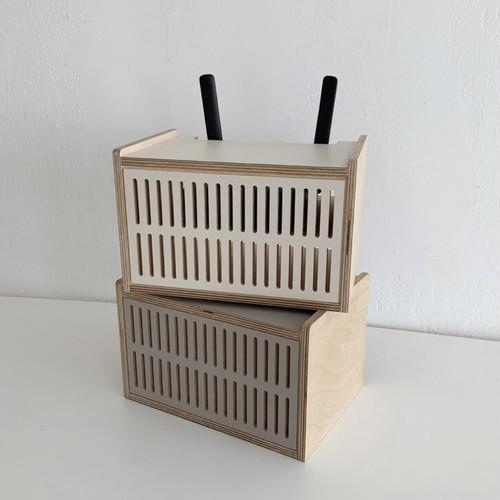 TV wifi receiver storage box 2colors / テレビ レシーバー ストレージ ボックス 受信機 棚 トレー 韓国 雑貨