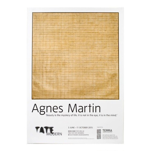 Agnes Martin / Tate Modern 2015 exhibition poster
