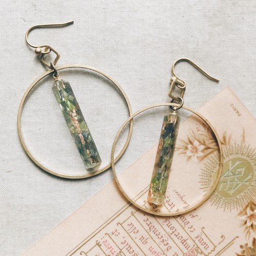 Mosaic pierce / earring -hoop-