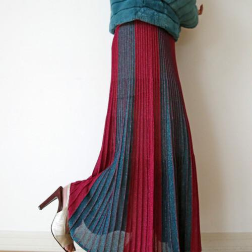 ViCOLO  ラメ入りニットスカート:GGZ-282 ¥15,800+tax