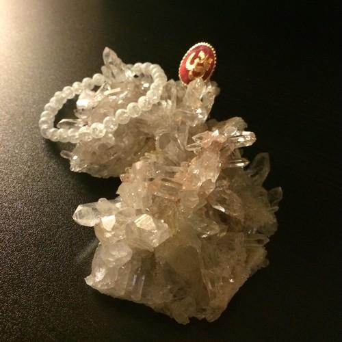パールバティー渓谷産水晶クラスター 華