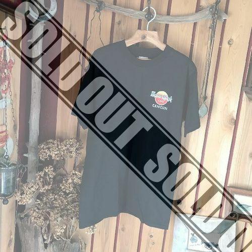 ≫メキシコMEXICO製Hard Rock Cafe CANCUNハードロックカフェカンクン*半袖Tシャツ*メンズM黒ブラック*アメカジ古着ヴィンテージビンテージ