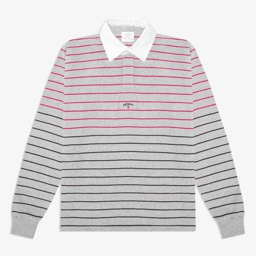 Multi-Color Striped Rugby(Ash/Rose/Black)