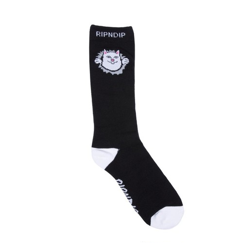 RIPNDIP(リップンディップ) | NERMALMANIAC SOCKS (Black)