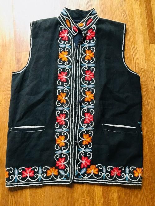 ビンテージ 豪華 刺繍 ベスト / ヒッピー エスニック メキシコ