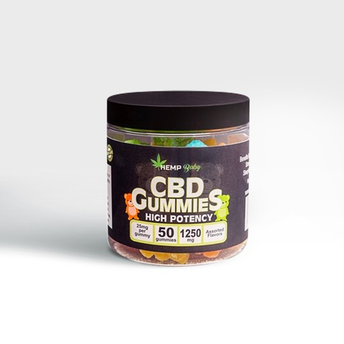 高濃度CBDグミ・HEMP BABY(CBD25mg / 粒 × 50粒、CBN5mg / 粒含有)