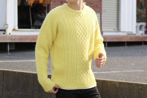 【1/15 21:00 販売開始】ThreeArrows Wool Knit (lemon yellow)