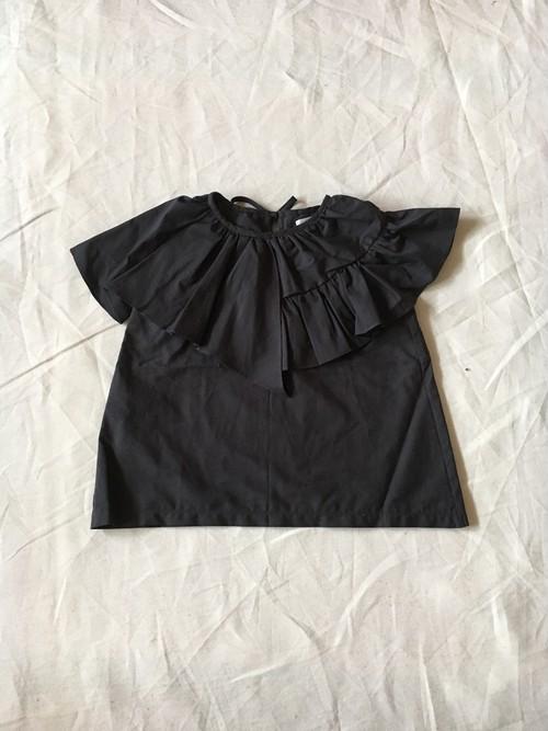 黒 大人 flare blouse