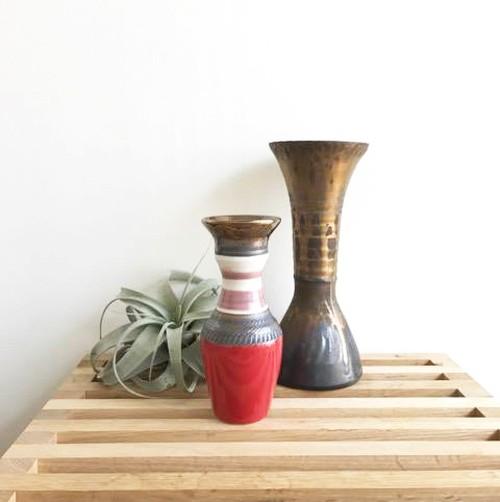 一点物 【Fiona】ビジョンブラッドの花器 陶器
