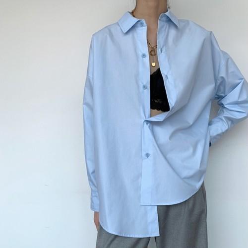 2色/コットンルーズシャツ ・2152