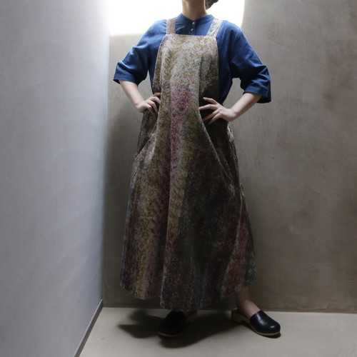 retela / リテラ unfabfic apron dress mustard x purple