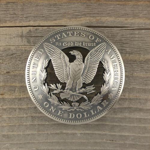 【受注生産】USA モルガンダラーシルバーコインカットコンチョB イーグル面【アメリカ ヴィンテージ 1ドル銀貨】