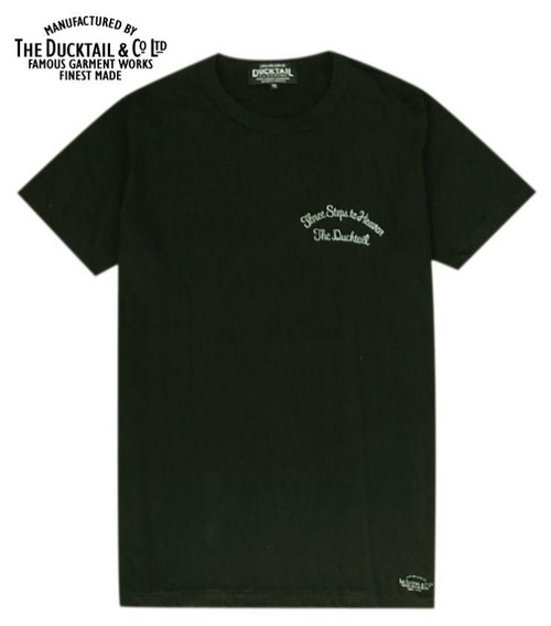 """DUCKTAIL CLOTHING """"THREE STEPS TO HEAVEN"""" BLACK ダックテイル クロージング Tシャツ"""