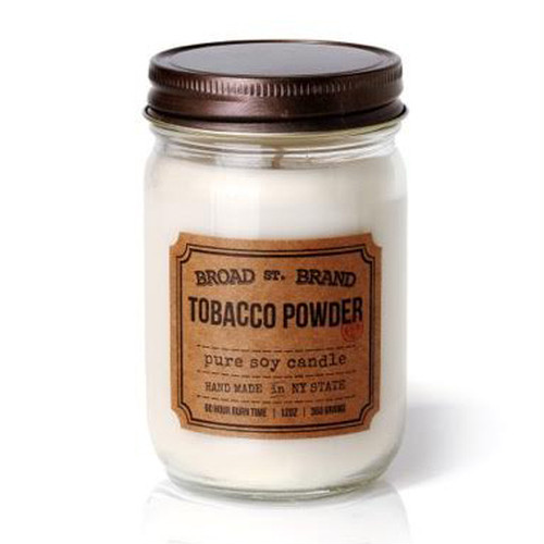 TOBACCO POWDER CANDLE - BROAD STREET BRAND