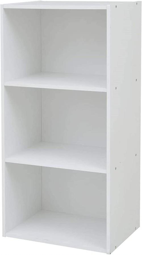 山善 カラーボックス 3段 幅42×奥行29×高さ89cm 各棚耐荷重25kg ホワイト GCB-3(WH)