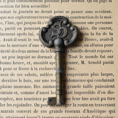 アンティークキー リアル・ヴィンテージ 紋章 +*ヨーロッパ・アルケミスト