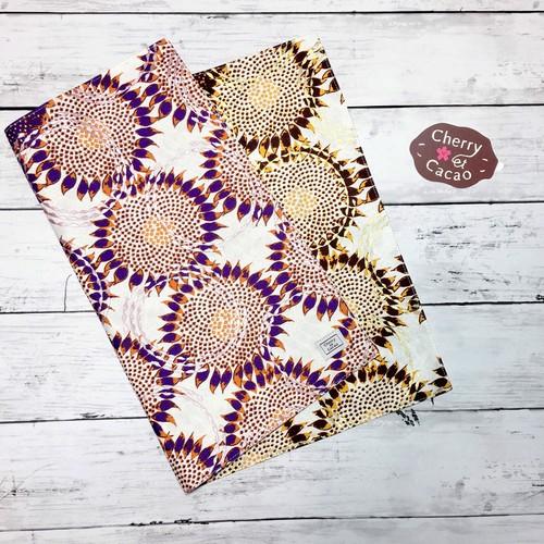 ランチョンマット  アフリカンテキスタイル リバーシブル(日本縫製) 向日葵 |アフリカ エスニック ガーナ布