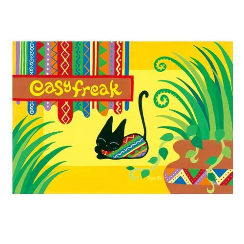 ポストカード『easy freak〜黒ネコの日常〜2』