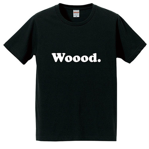 Woood. T-shirt Black for Adult