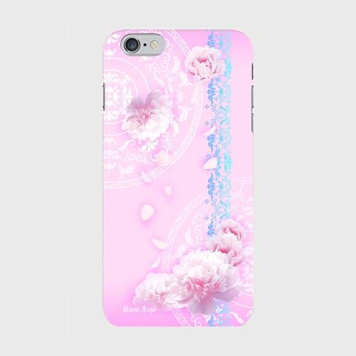 【iPhone6Plus/6sPlus】Peony Dream 芍薬の夢 ソフトピンク ツヤありハード型スマホケース