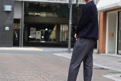 【Phlannèl】Winter Stripe Pajamas Trousers Gray×Red