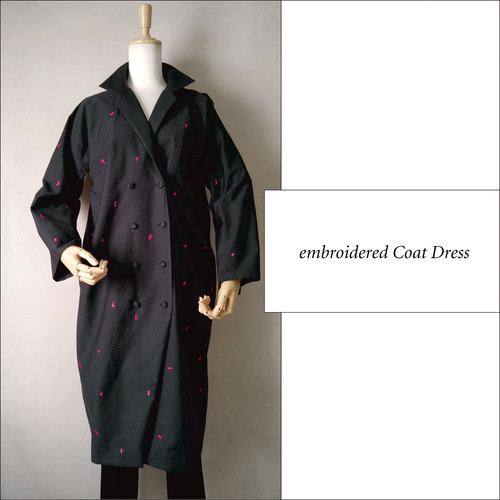 オリジナル刺繍 コートドレス