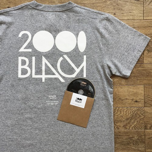 2000Black × Ends and Means × Jazzy Sport Tシャツ/グレー(Mix CD付き)