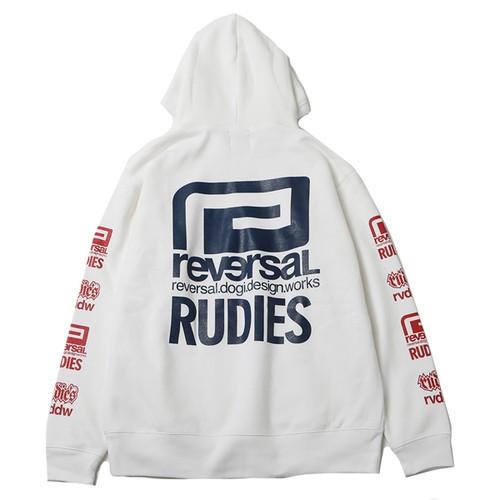 RUDIE'S / ルーディーズ   RUDIE'S x reversal HOOD SWEAT - White