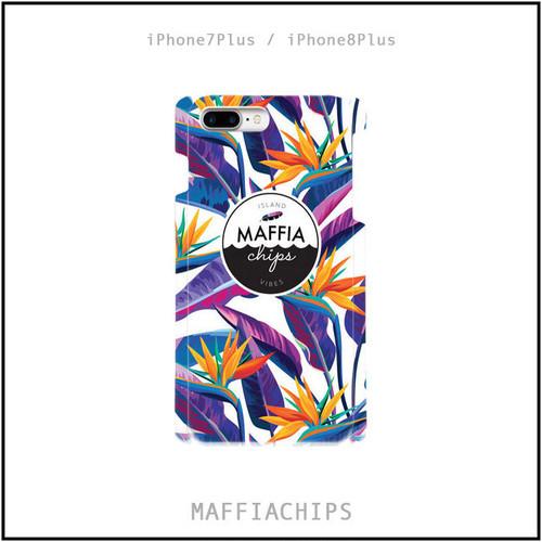 "MAFFIACHIPS  iPhone7plus / 8Plus  ケース ""Tropical Leaves"""