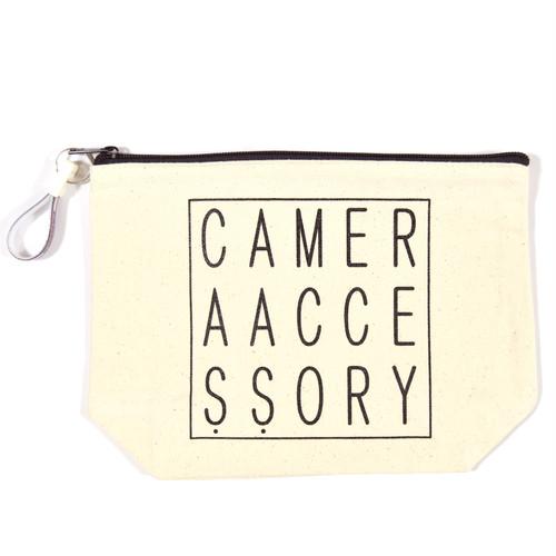CAMERA ACCESSORY(カメラアクセサリー)ポーチ キーホルダー付き ナチュラル