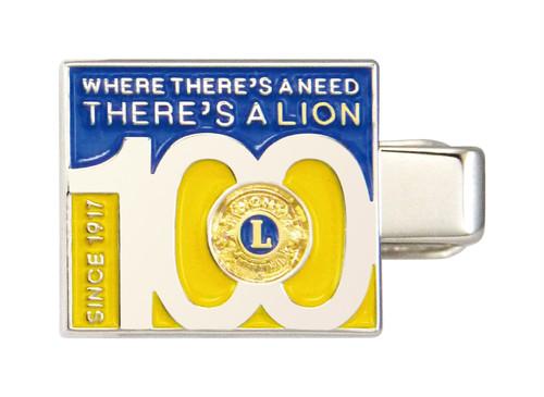 6748-AF ショートクリップ(ライオンズクラブ創立100周年記念)