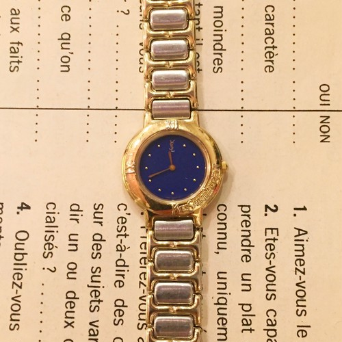 Yves Saint Laurent stainless steel watch