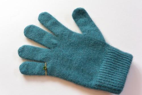 ピンキーリングの手袋 ティール