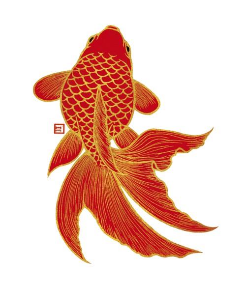 しおり(金魚1:赤)