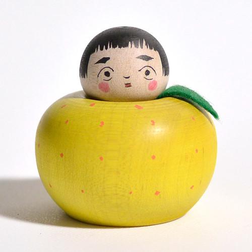 みかんえじこちゃん 約2寸 約5cm 長谷川優志 工人(津軽系)#0064