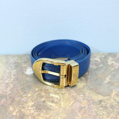 .LOUIS VUITTON CT1915 LEATHER BELT MADE IN FRANCE/ルイヴィトンエピサンチュールレザーベルト 2000000029917