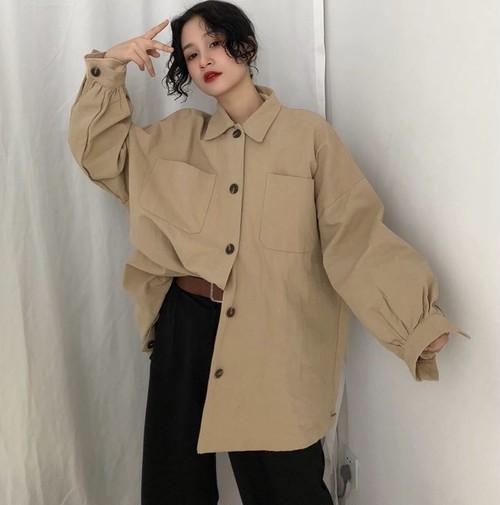 【お取り寄せ商品】オーバーサイズの長袖シャツ 8929