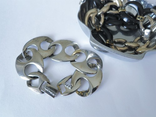 シルバーチェーンブレスレット vintage bracelet coin <BL1-L19>