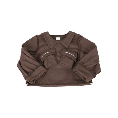 sailor collar tops#brown