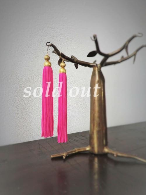 tassel pierced earrings <PE-TSL3>