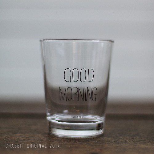 GOOD MORNING GLASS (BLACK)