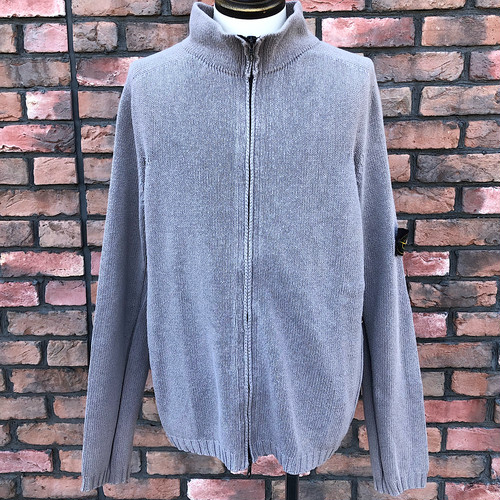2003 SS Stone Island Zipper Cotton Jumper  Made In Italy XL